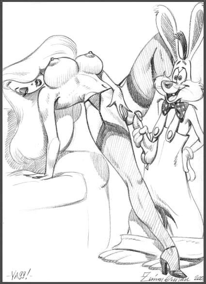 who rabbit framed nudity roger Peaches and cream porn comic