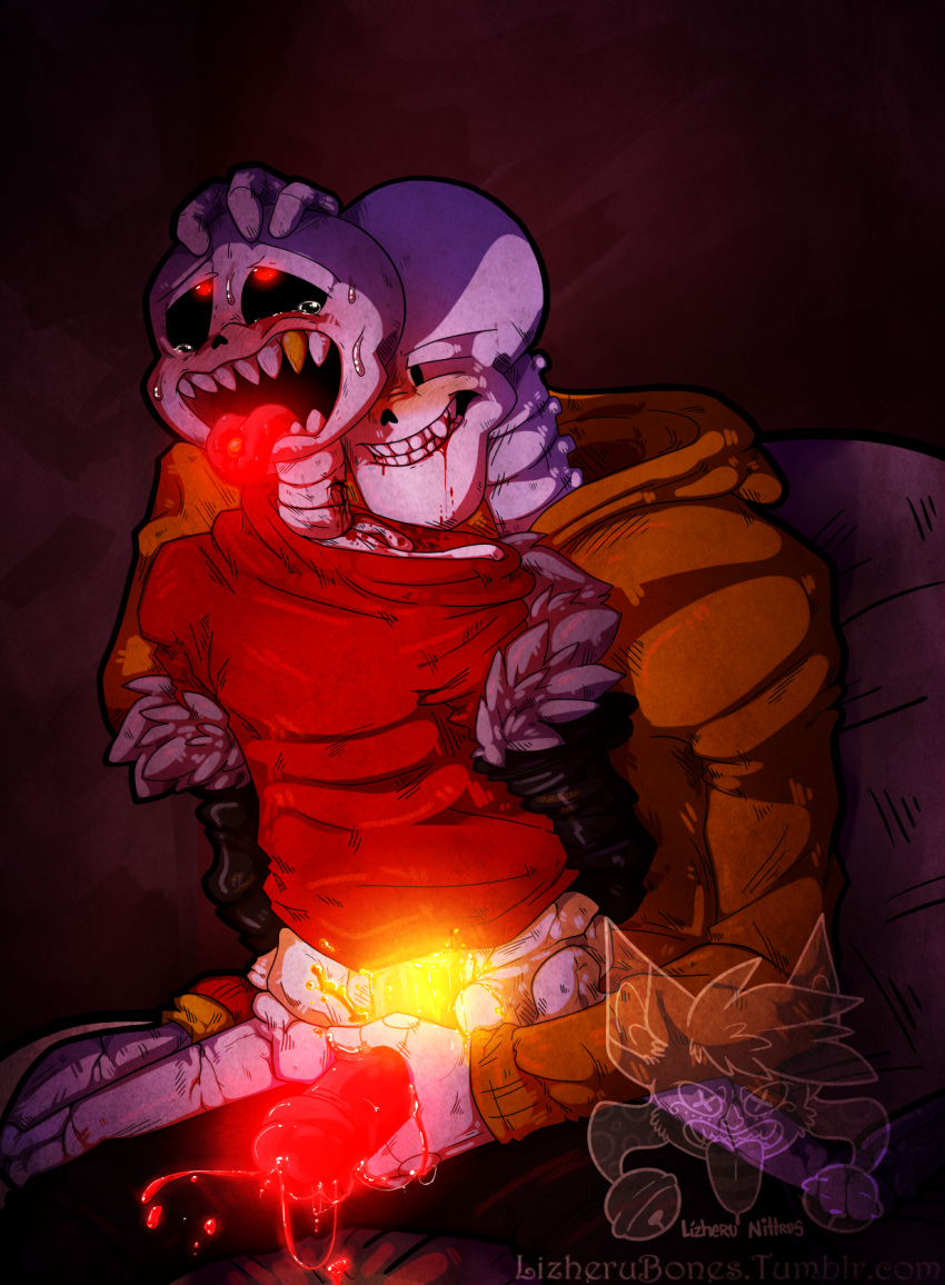 papyrus underfell x underfell sans Hydrus shadow of the colossus